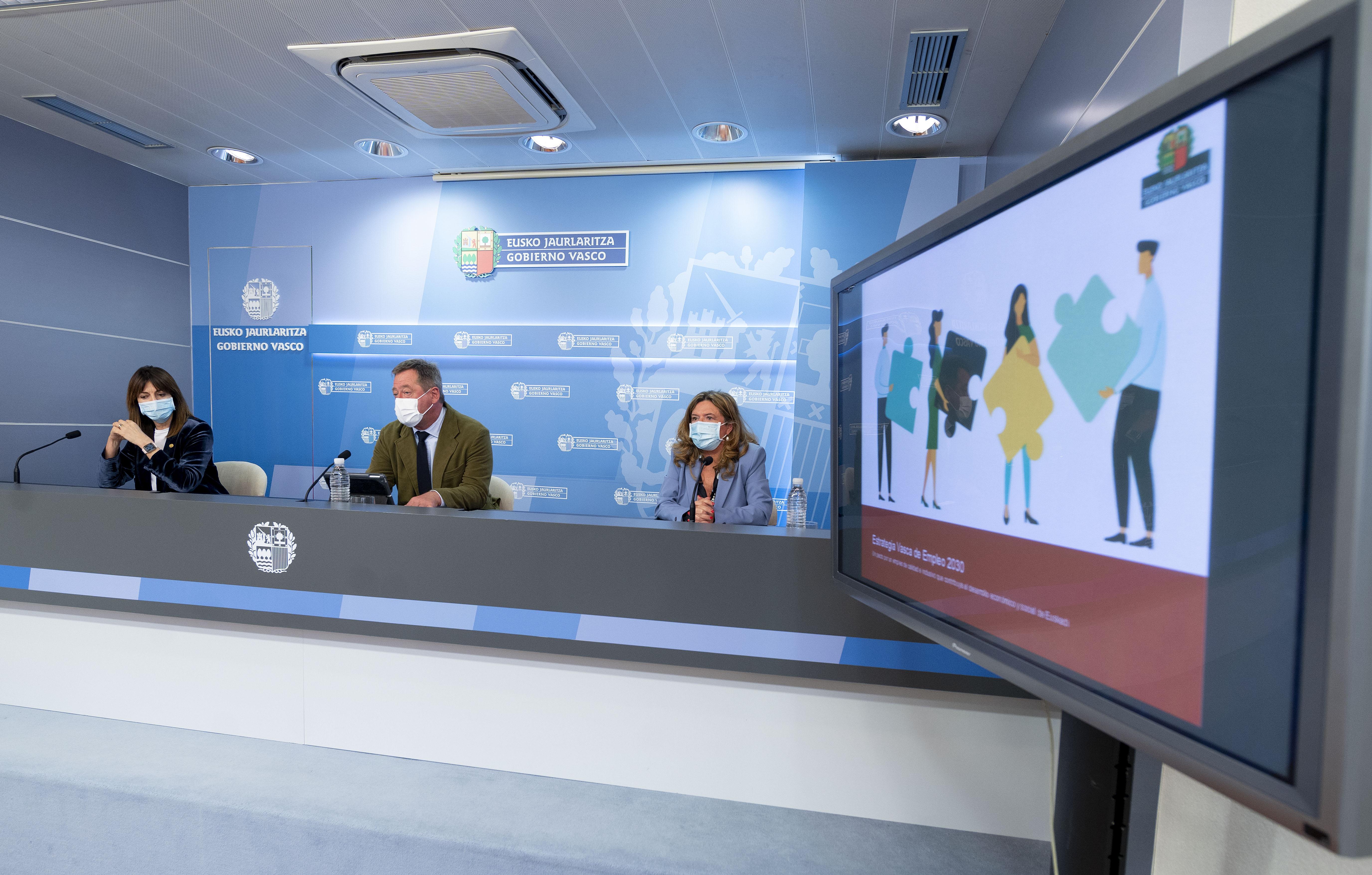 El Gobierno Vasco aprueba la Estrategia Vasca de Empleo 2030, que incluye el derecho subjetivo a las políticas activas [63:32]