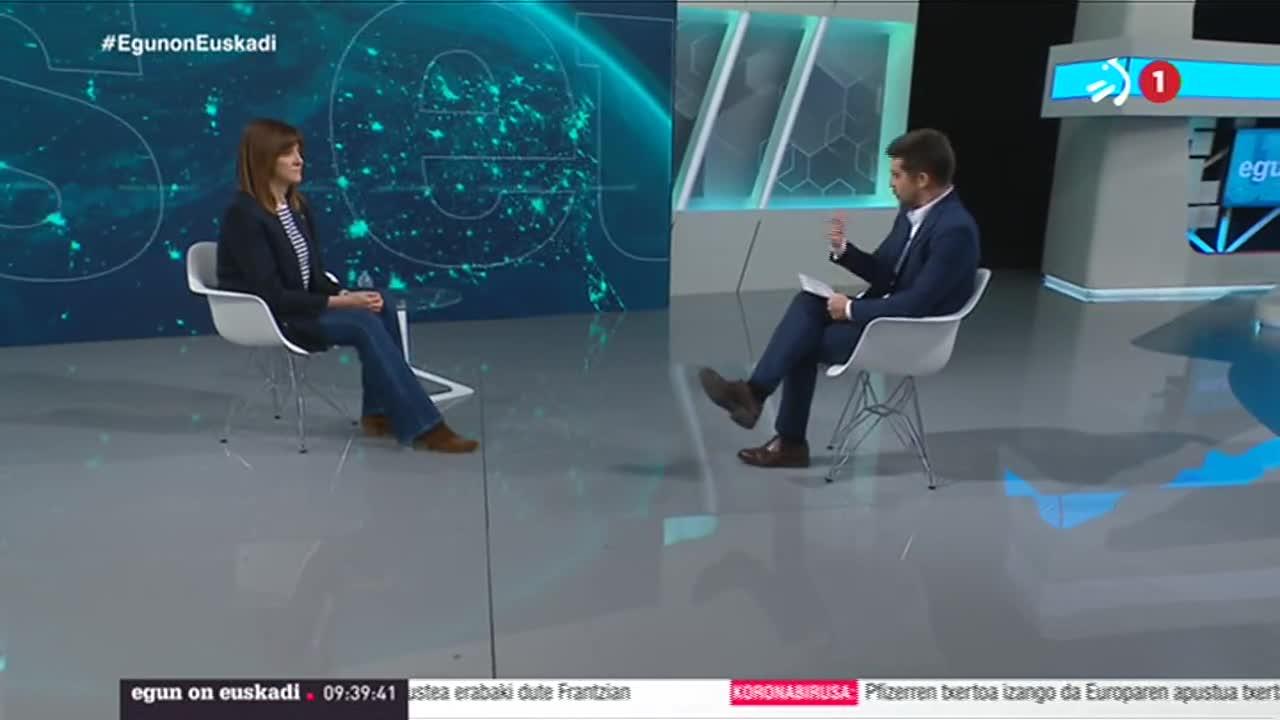 Idoia Mendia lehendakariordeari elkarrizketa 'Egun on Euskadin', ETB1en [31:11]
