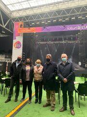 Bingen Zupiria ha participado en la visita a las instalaciones acondicionadas del Iradier Arena con motivo del inicio de la programación de Kultura Bizia