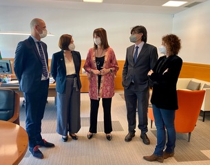 La directora de Economía Social del Ministerio de Trabajo visita Euskadi para conocer de cerca el modelo vasco y la Ley de Cooperativas aprobada en 2019