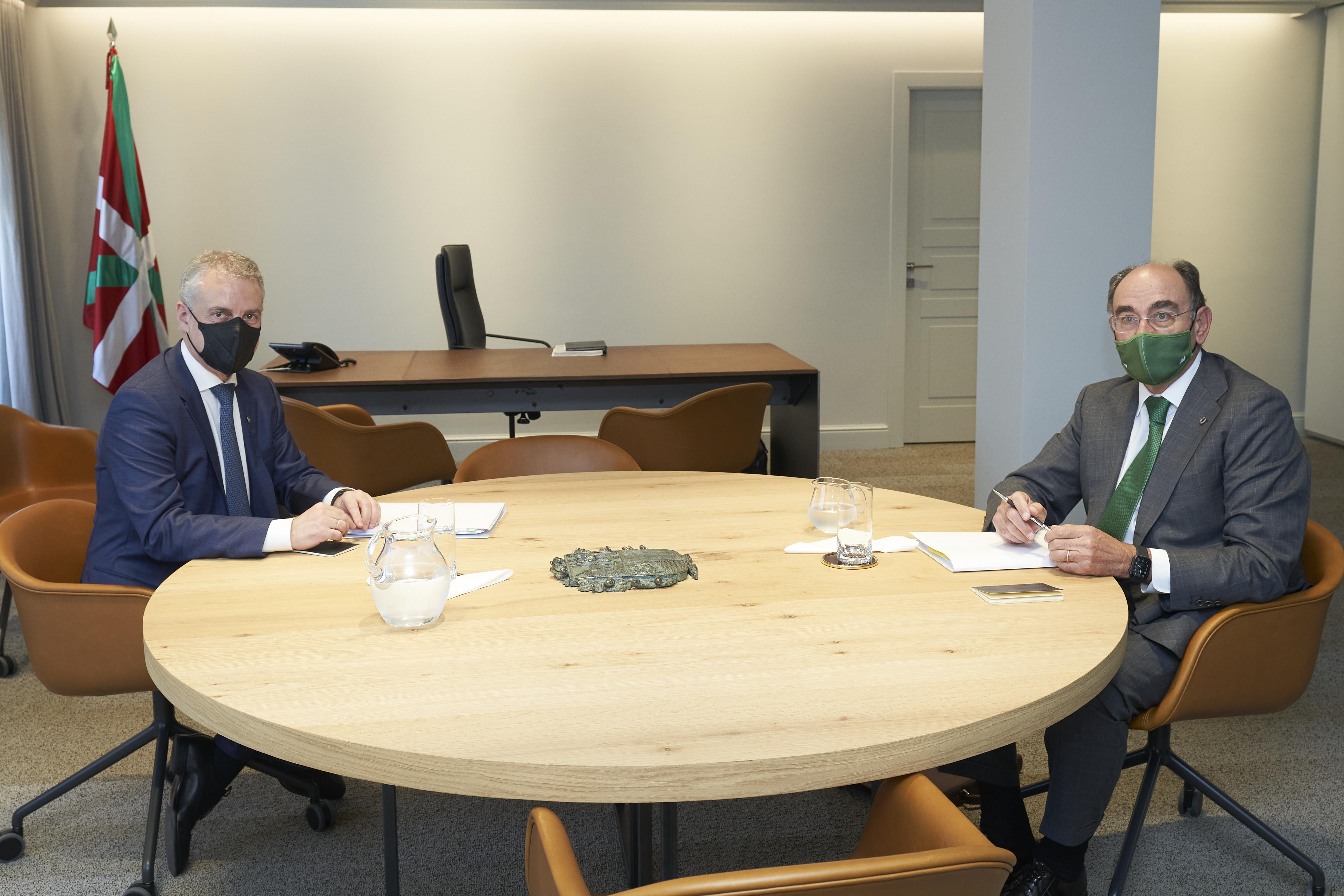 El Lehendakari se reúne con el Presidente de Iberdrola [0:29]