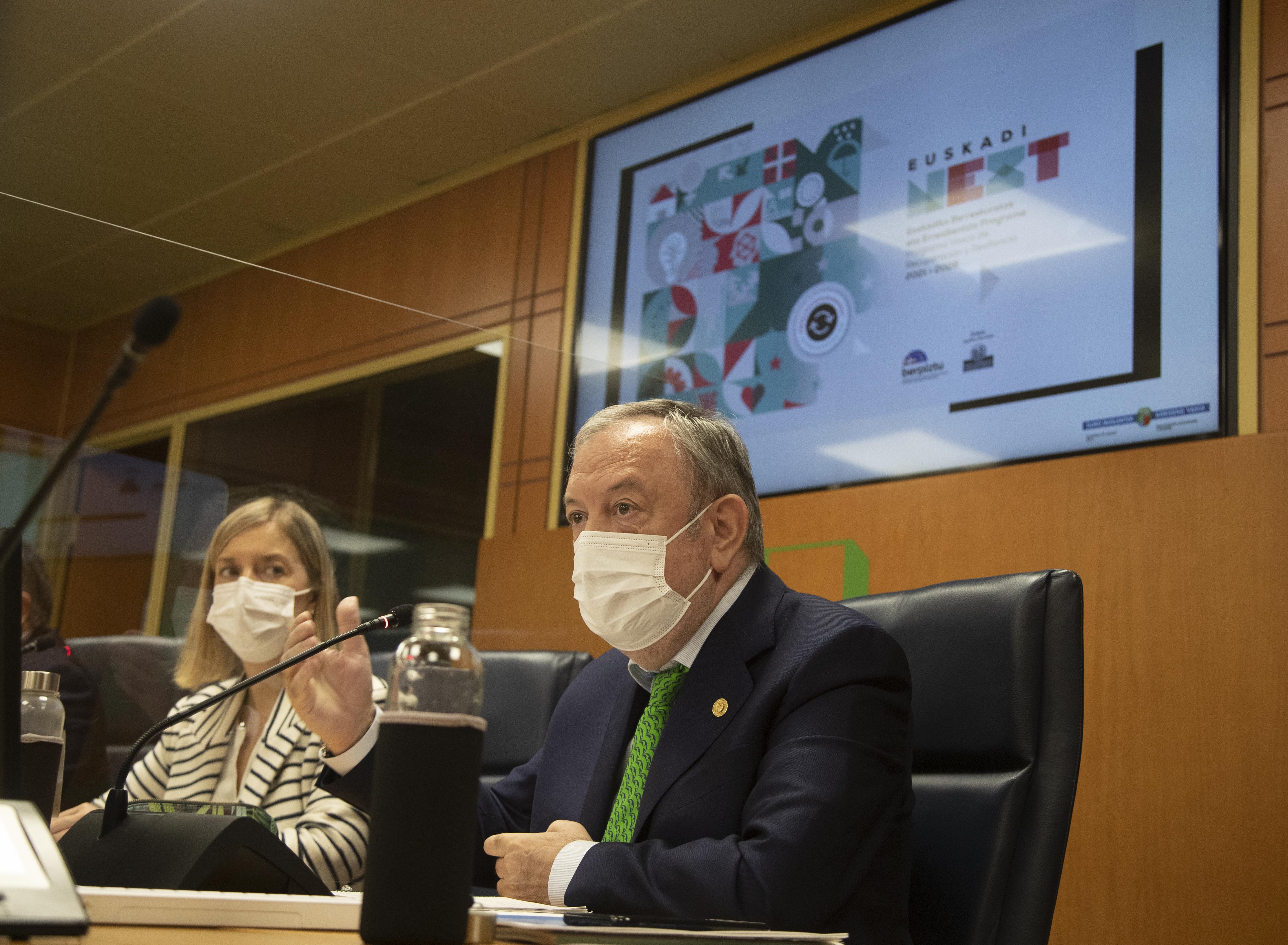 El Gobierno Vasco intensificará la próxima semana su presencia en Madrid para reafirmar su voluntad de orientar el uso de los recursos del MRR hacia la transformación  [161:28]