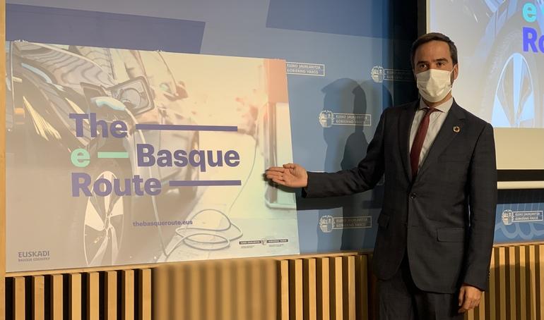 Javier Hurtado sailburuak turismo-mugikortasun jasangarrirako The e-Basque Route proiektua aurkeztu du